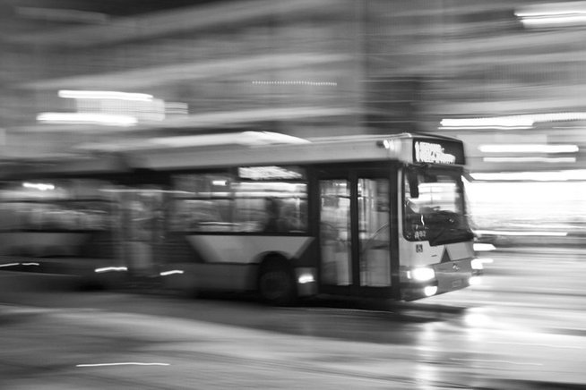 Bus in a city